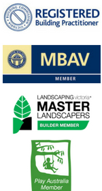 Centre Court Lawns are: Registered Building Practitioners in Victoria; Master Builders Association of Victoria Member; Landscaping Victoria Builder Member; Play Australia Member